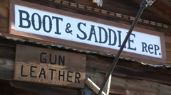 Boot & Saddle Sign (HD)c Stock Footage