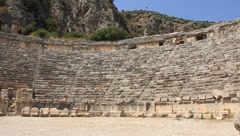 Ancient Greek-Roman amphitheatre. Myra (old name - Demre), Turkey Stock Footage