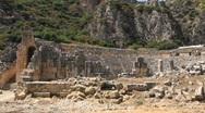 Ancient Greek-Roman amphitheatre. Myra (old name - Demre), Turkey Stock Footage