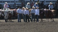 Cowboy group at rodeo Stock Footage