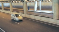 Cars in Tunnel Stock Footage