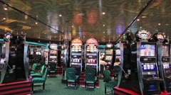 Cruise ship casino slot machines HD - stock footage
