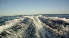 Boat Wake - stock footage