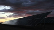 Stock Video Footage of Solar Panel Nightfall Time Lapse