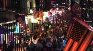 Stock Video Footage of Bourbon Street 4th of July