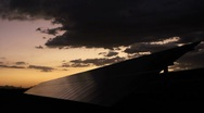Stock Video Footage of Solar Panel Dusk Time Lapse