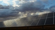 Solar Panel Energy Scenic Time Lapse Stock Footage