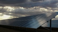 Stock Video Footage of Sunlight Solar Panel Time Lapse