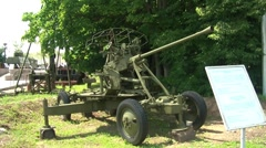 37mm Automatic AA Gun Stock Footage