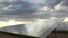 Solar Power Clouds Time Lapse Stock Footage