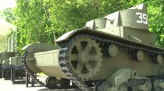 T-26 Two-turret Light Tank Stock Footage