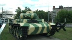 T-III medium tank Stock Footage