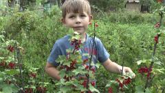 Child in the garden Stock Footage