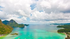 El Nido lagoon at day time. Timelapse Stock Footage