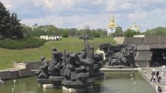 """Statue of Museum of the """"Great Patriotic War"""" , Kiev, Ukraine Stock Footage"""