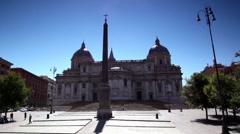 Obelisk of Santa Maria Maggiore Basilica in Rome Stock Footage