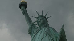 Timelapse number 4 Statue of Liberty (statue lights up) Stock Footage