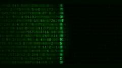 Data scan loop Stock Footage