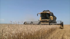 Wheat harvesting shearers 2 Stock Footage