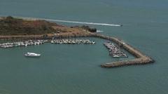 Speeding Boat in the Bay HD Stock Footage