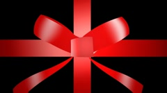Present ribbon unwrap Stock Footage