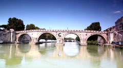 Ponte Sisto closer at sunny day Stock Footage