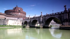 Stock Video Footage of Sant Angelo Castel the view in motion from the river