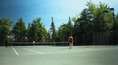 Tennis Match Time Lapse Stock Footage