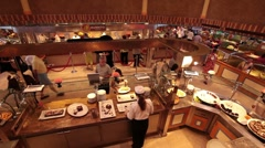 Cruise ship buffet almost empty fast TL P HD 1335 Stock Footage