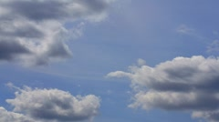 Clouds moving across a blue sky (timelaps) Stock Footage