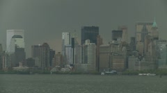New York City before storm Stock Footage