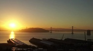 San Francisco Sunrise Time Lapse HD Stock Footage