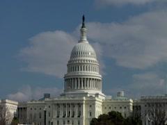 US Captol Building Time lapse Stock Footage