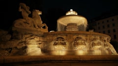 Wittelsbach Fountain Stock Footage