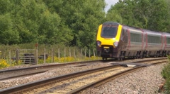Virgin train going round a bend Stock Footage