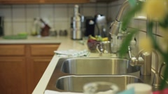 Woman making soup and tea Stock Footage