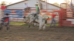 Stock Footage - Rodeo - Bull ride - short - stock footage