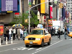 Times Square Timelapse Center Divider Multiple Views Stock Footage