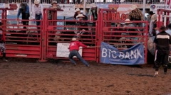Stock Footage - Rodeo - Rider gets thrown off a bull Stock Footage