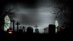 Stock Video Footage of Halloween Graveyard Background Loop