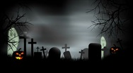 Stock Video Footage of Halloween Graveyard Background Loop
