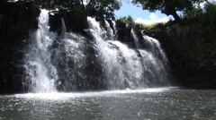Waterfall at Mauritius - stock footage