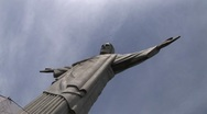 Christ statue in Rio de Janeiro Stock Footage