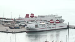 Mediterannean Sea ferry boats Acciona Mallorca P HD 9890 Stock Footage
