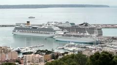 Luxury yacht cruise ships Palma Mallorca P HD 9877 Stock Footage