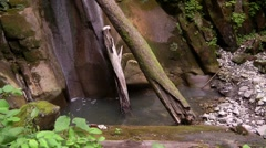 Waterfall in a forest in the North Caucasus Stock Footage