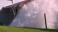 Disaster, water main break, #4 high speed 1/250 shutter, zoom Stock Footage