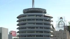LA Capitol Records 0111 2 Stock Footage