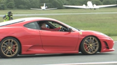 Ferrari Challenge Stradale on track Stock Footage