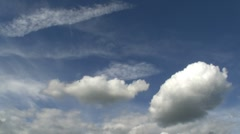 fair weather clouds - stock footage